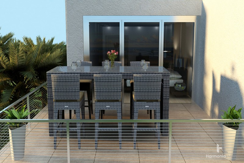 Picture of: Modern Bar Height Patio Table Set