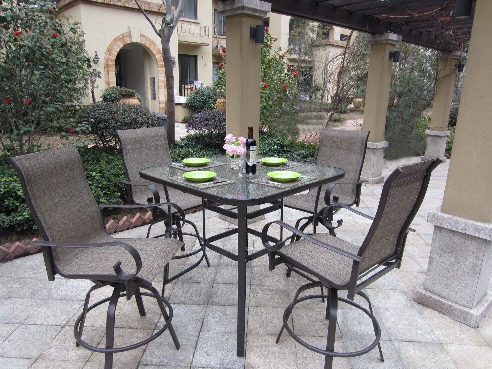 Picture of: Modern Outdoor Patio Bar Table