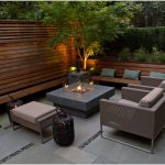 Modern Patio Table With Firepit
