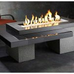 Modern Patio Table With Firepit Gas