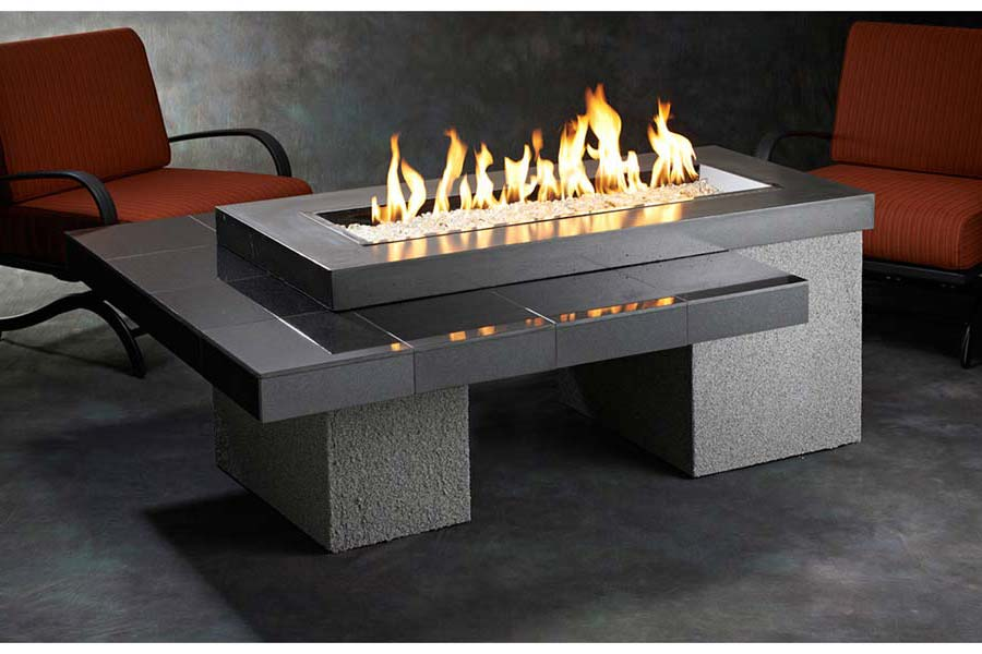 Image of: Modern Patio Table with Firepit Gas