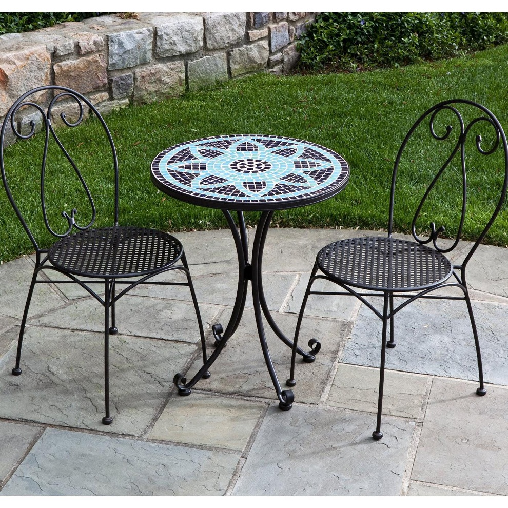 Picture of: Mosaic Patio Bistro Table