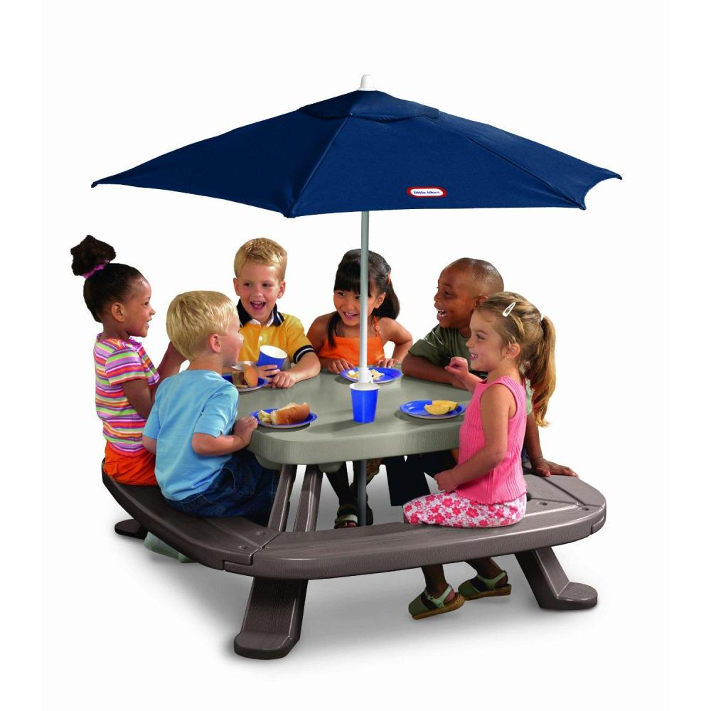 Picture of: New Picnic Table with Umbrella