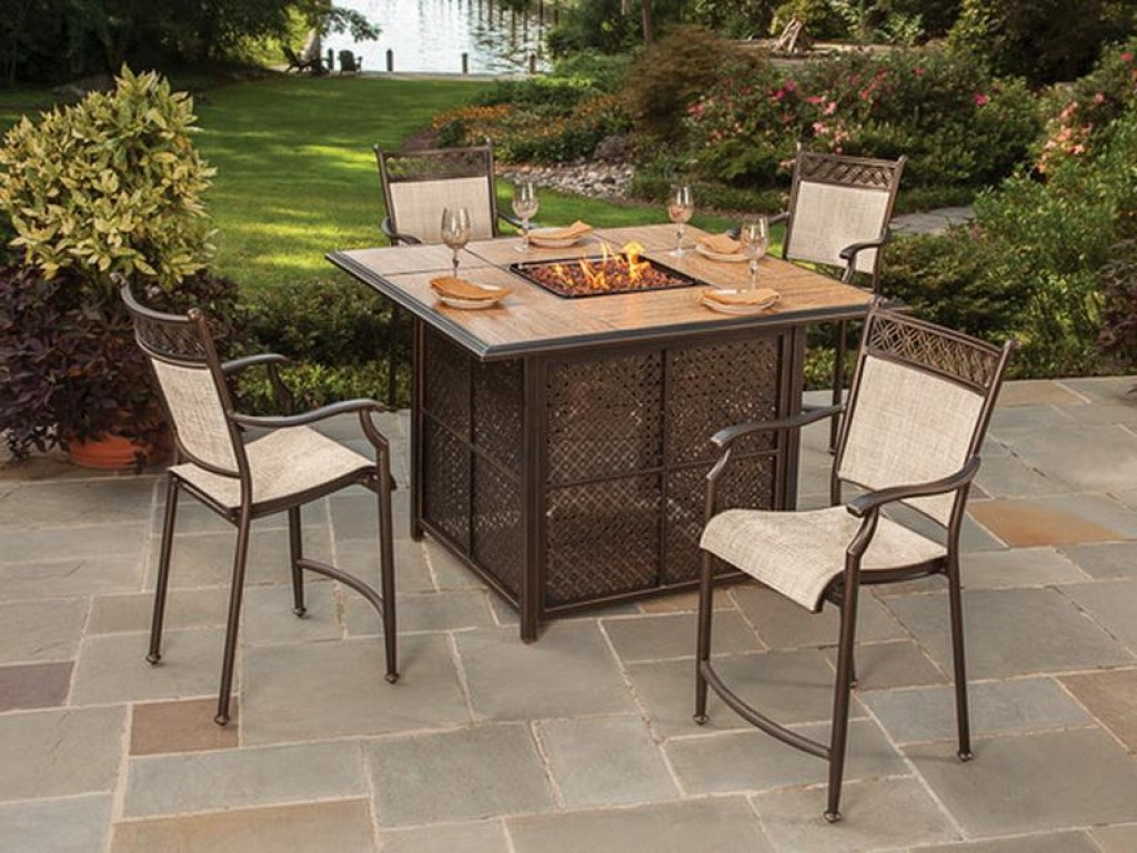 Picture of: Nice Firepit Dining Table