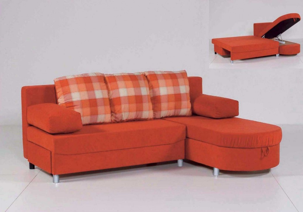 Image of: Orange Twin Sofa Sleeper