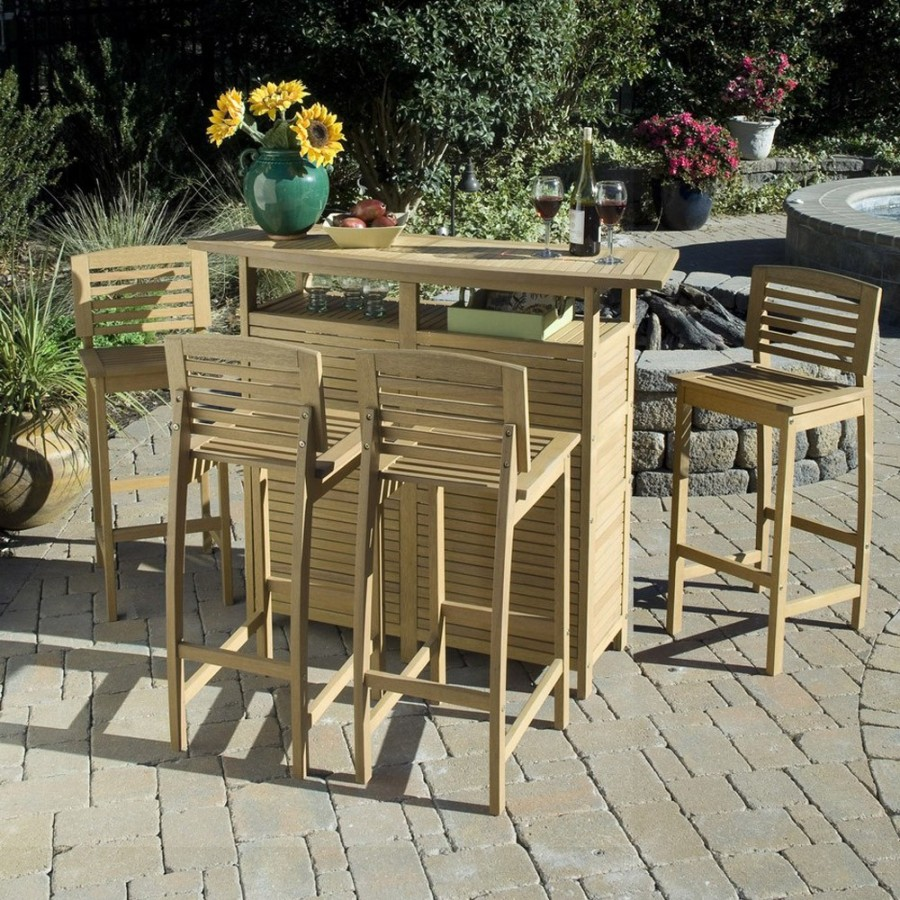 Image of: Outdoor Bar Patio Table