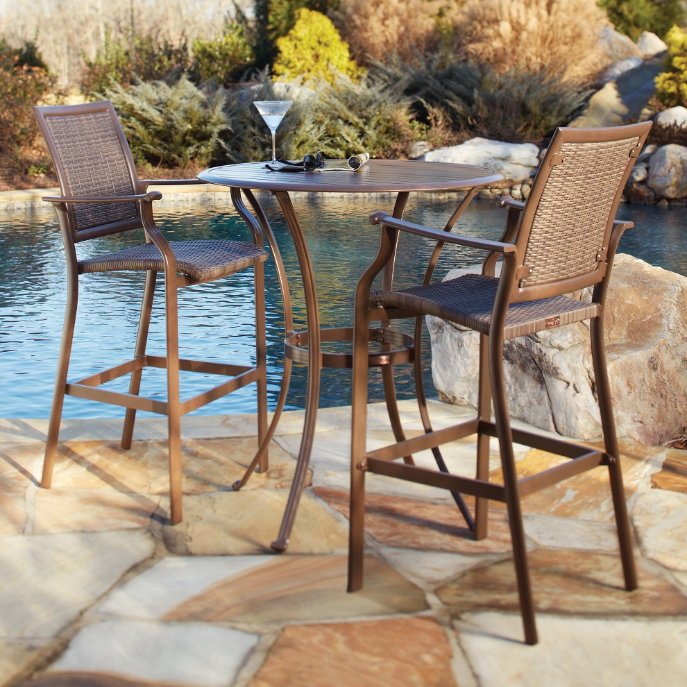 Image of: Outdoor Bistro Table and Chairs Height