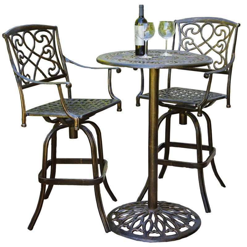 Picture of: Outdoor Bistro Table and Chairs High