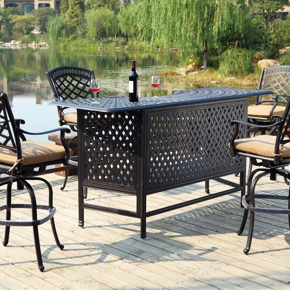 Picture of: Outdoor Patio Bar Table Set