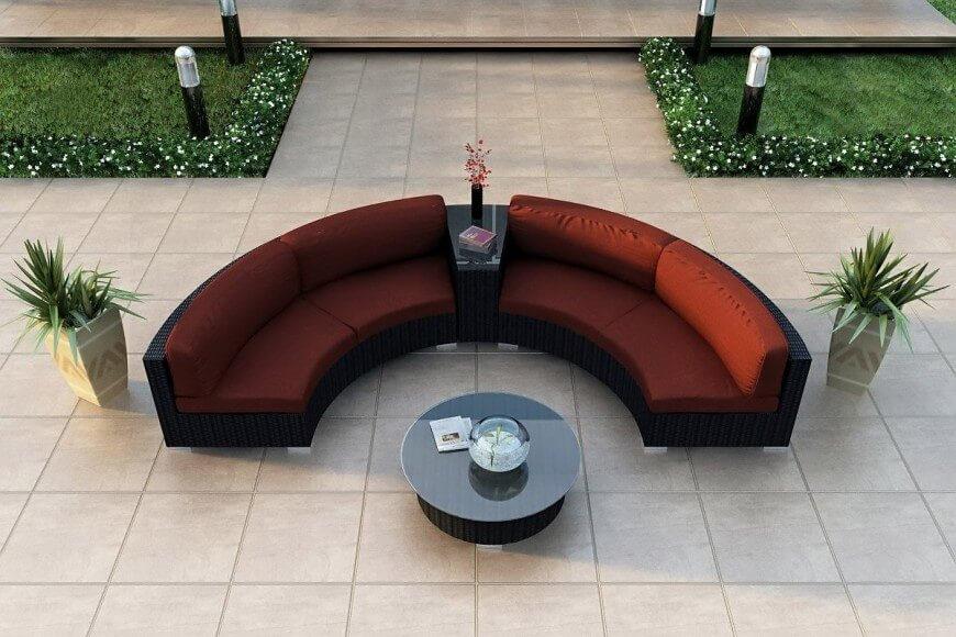 Outdoor Patio Coffee Table Round
