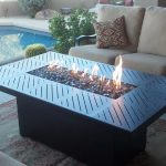 Outdoor Pool Propane Firepit Table