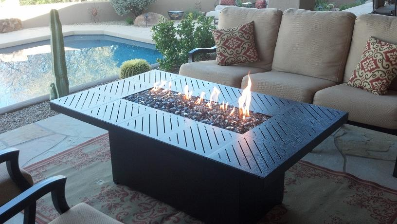 Picture of: Outdoor Pool Propane Firepit Table
