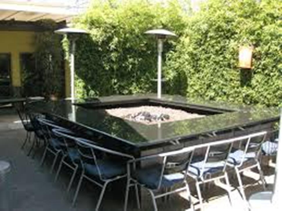Picture of: Outdoor Table with Firepit Propane