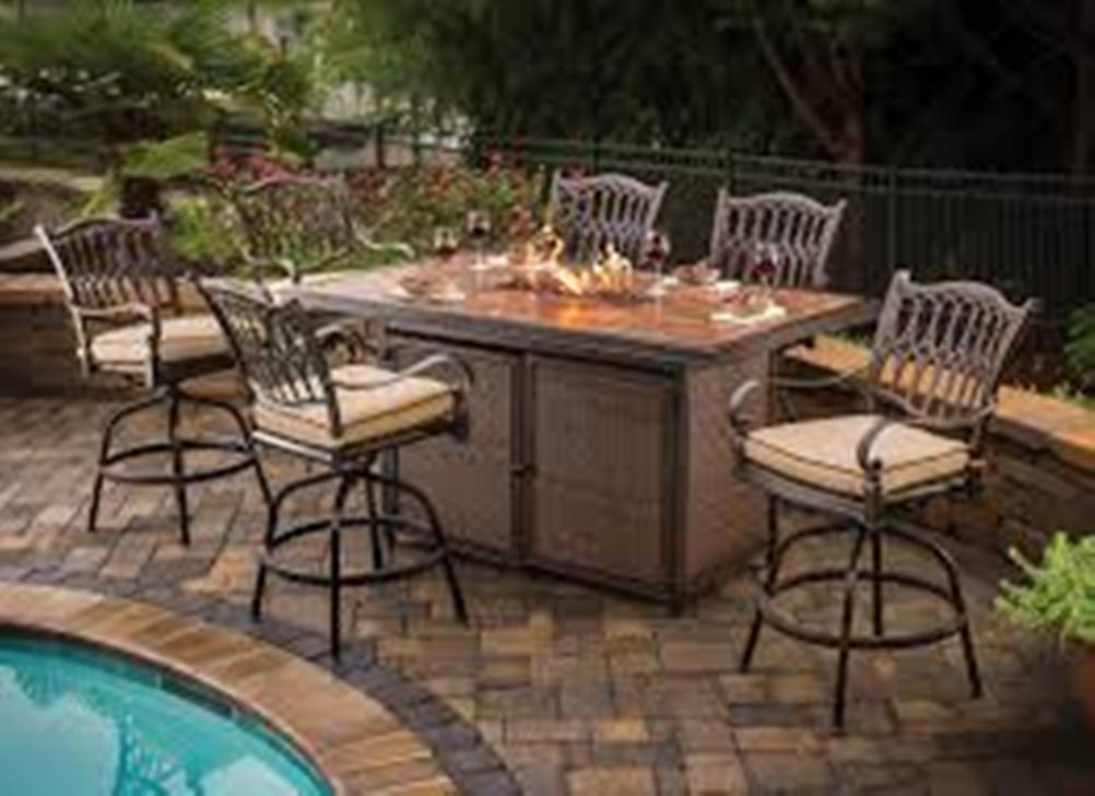 Picture of: Outdoor Table with Firepit for Home