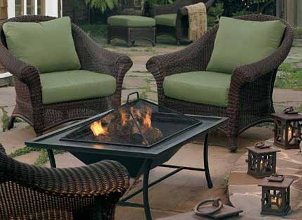 Picture of: Outdoor Table with Firepit in Center