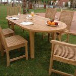Oval Teak Patio Dining Table