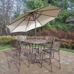 Patio Bar Height Table And Chairs Furniture