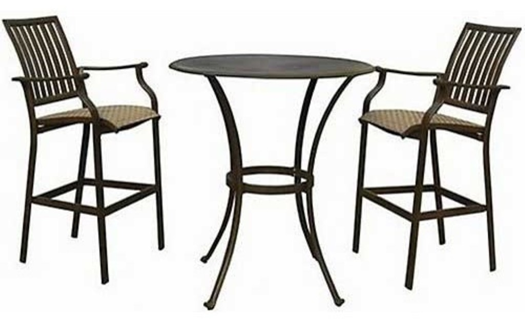 Patio Bar Table Set Espresso