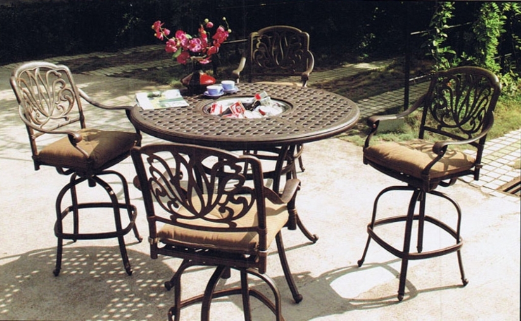Image of: Patio Bar Table Sets With 2 Chairs