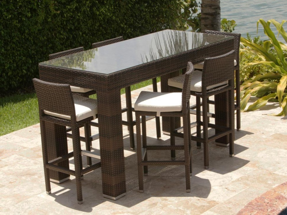 Picture of: Patio Bar Table Sets for the Home