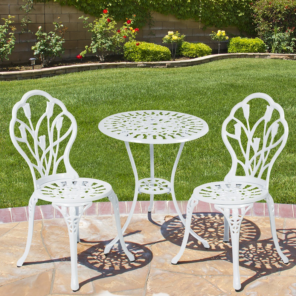 Picture of: Patio Bistro Table White