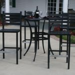 Patio Table Bar Height Black