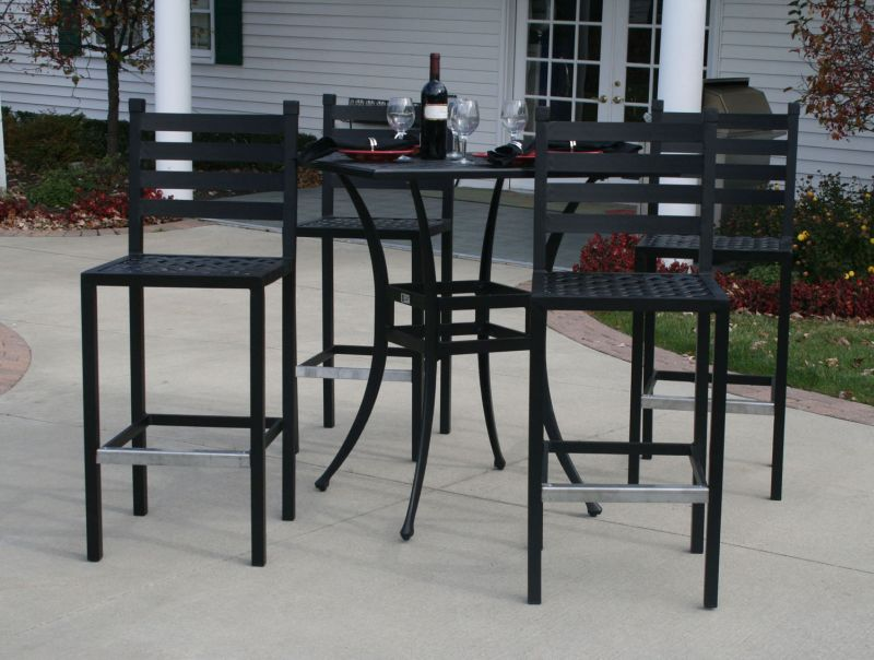 Picture of: Patio Table Bar Height Black