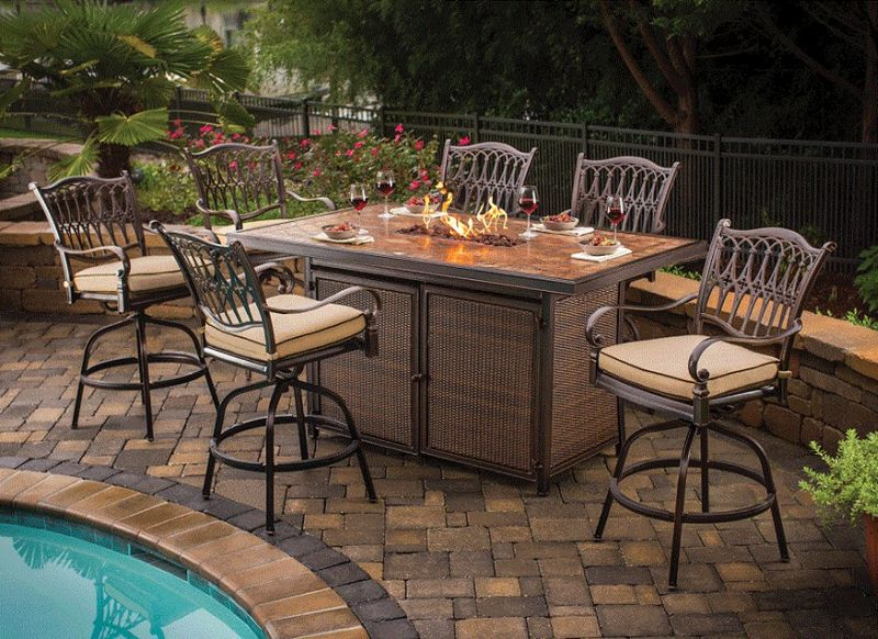 Picture of: Patio Table Bar Height Luxury