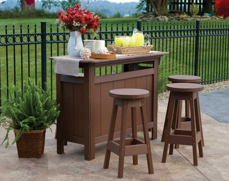 Image of: Patio Table Bar Height Picture