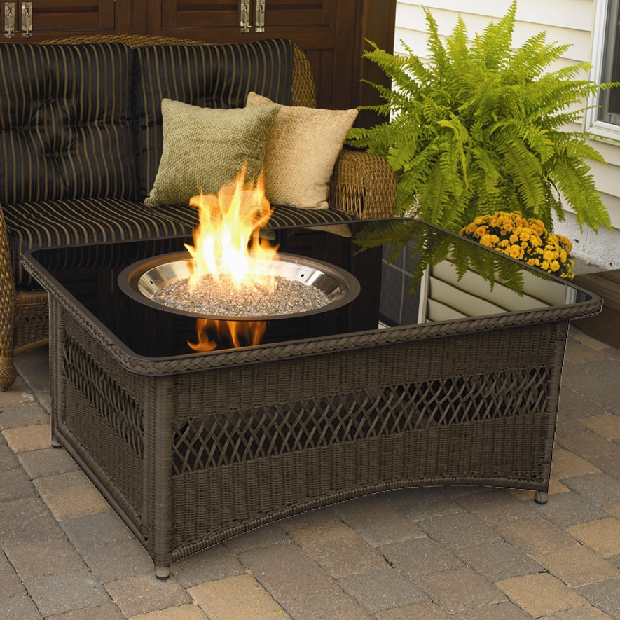 Patio Table with Firepit Designs