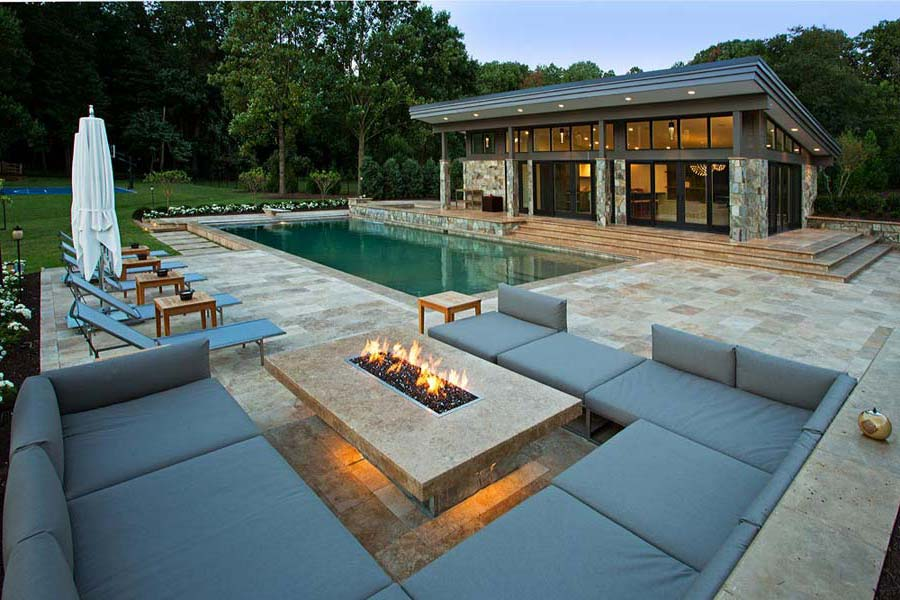 Image of: Patio Table with Firepit Gas