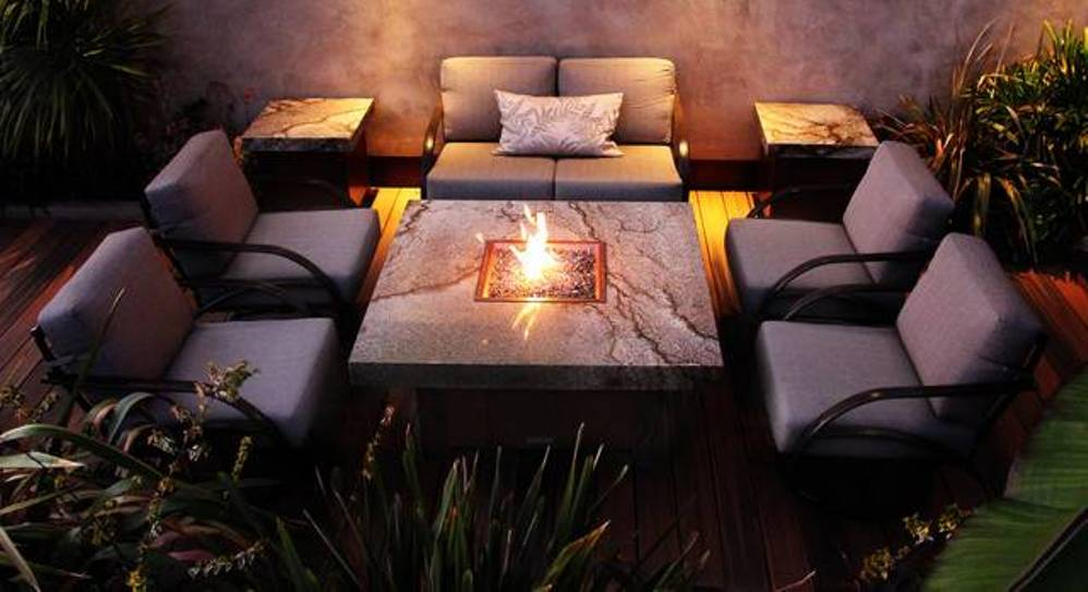Image of: Patio Table with Firepit Square