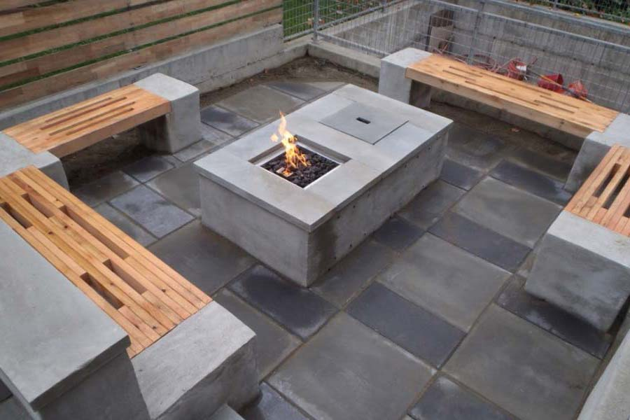 Image of: Patio Table with Firepit Style