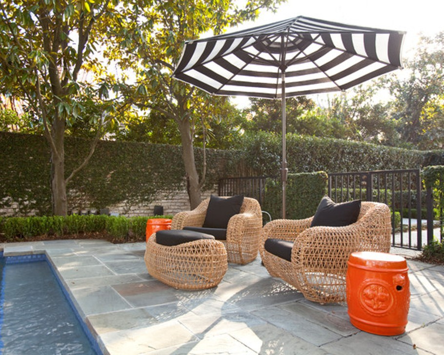 Picture of: Patio Umbrella Side Tables Outdoor