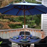 Patio Umbrella Side Table Stand