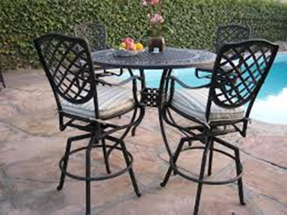 Image of: Patio bar Table Set Furniture