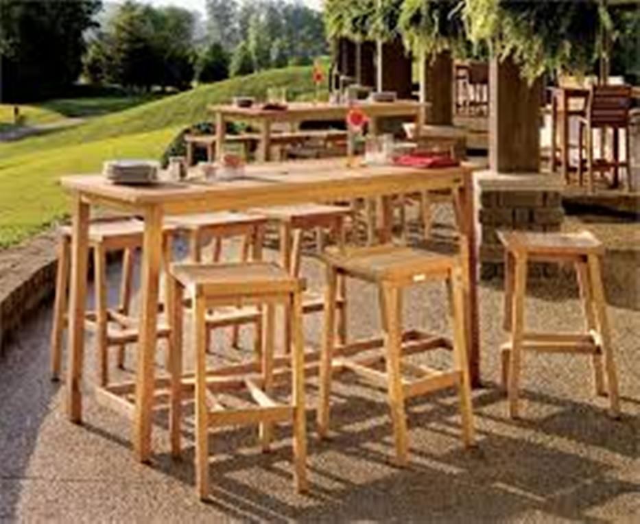 Image of: Patio bar Table Setups