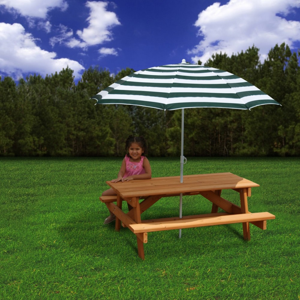 Picture of: Picnic Table with Umbrella Ideas