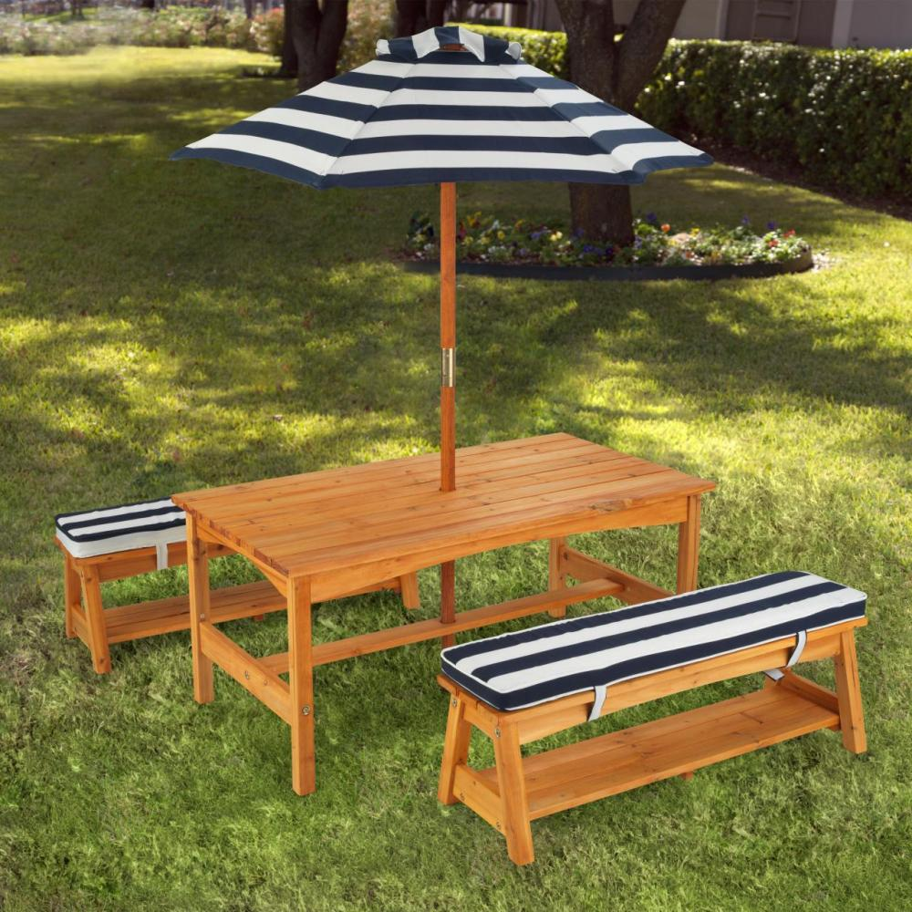 Picture of: Picnic Table with Umbrella Style