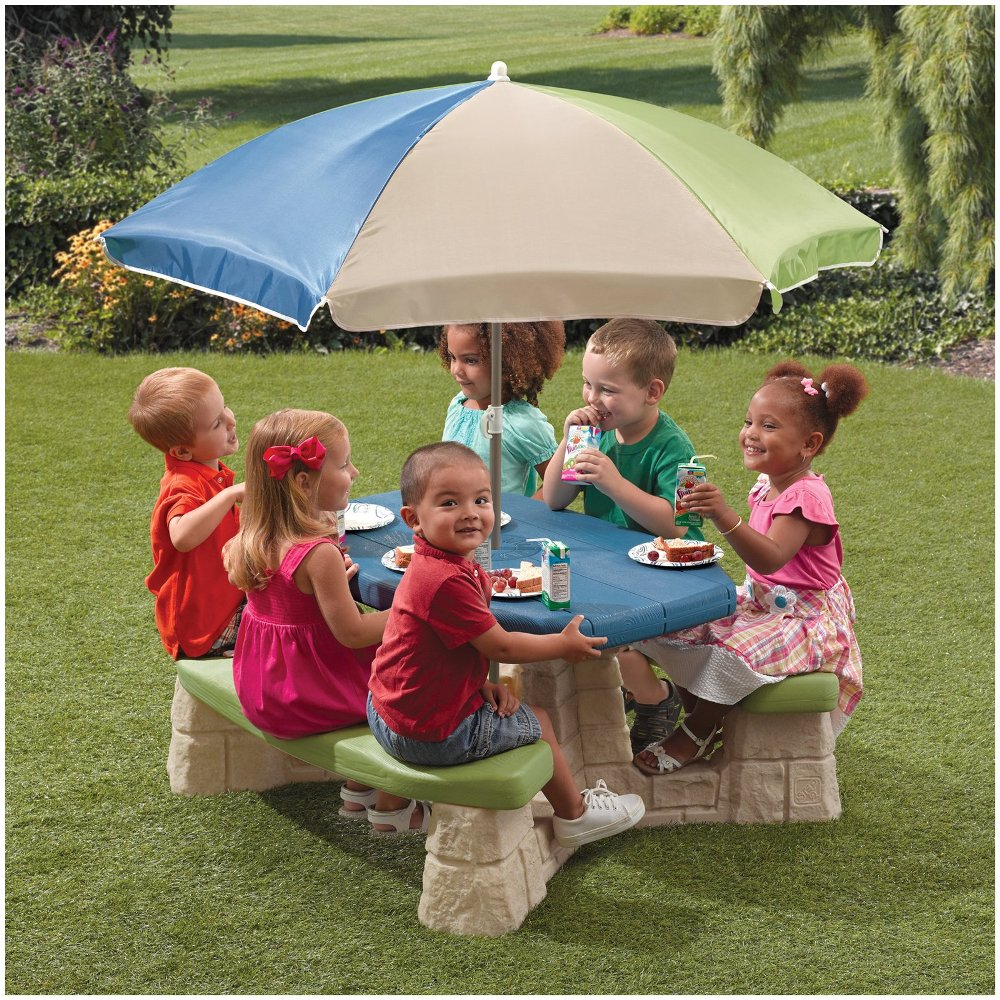 Picture of: Popular Picnic Table with Umbrella