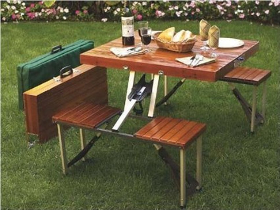 Image of: Portable Picnic Table Ideas