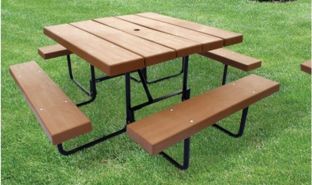 Image of: Portable Picnic Table Quick Clamp Canopy
