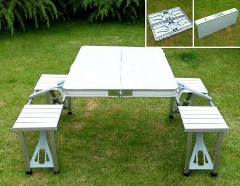 Image of: Portable Picnic Table Set