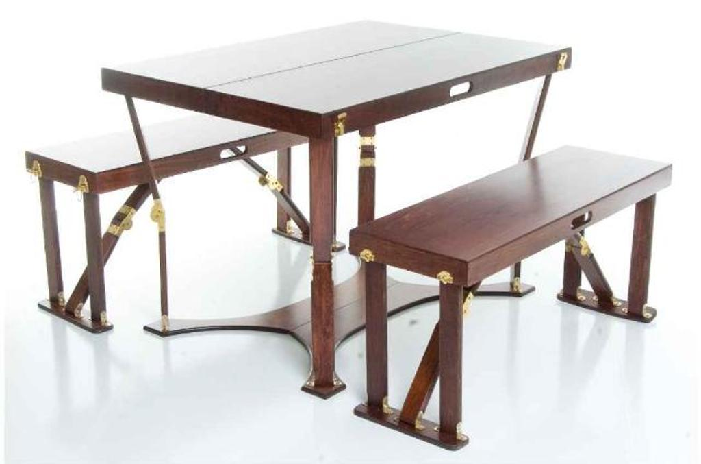 Image of: Portable Picnic Table and Benches