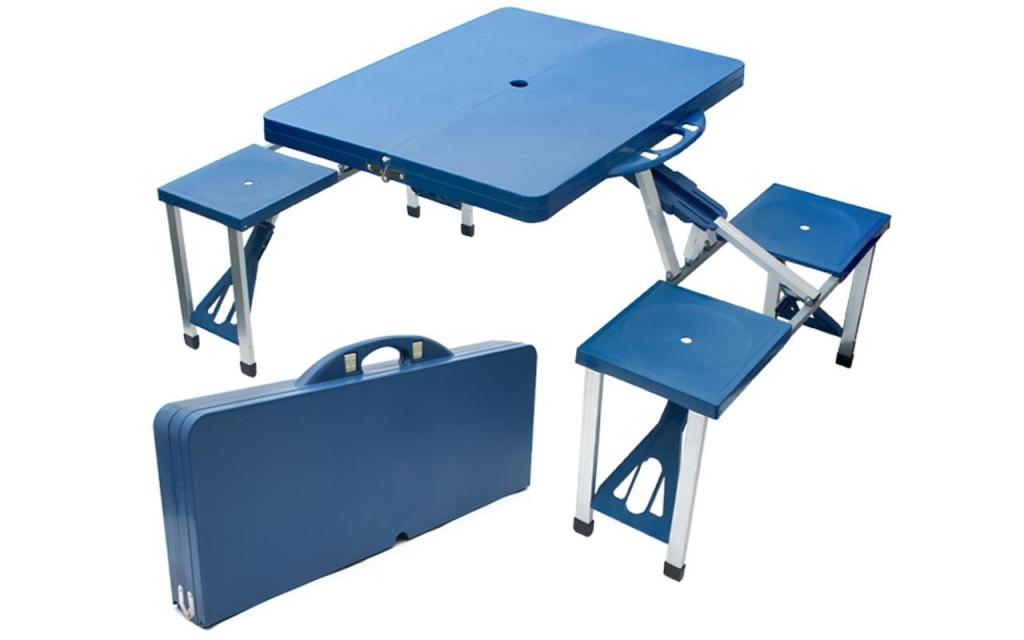 Image of: Portable Picnic Table with Benches
