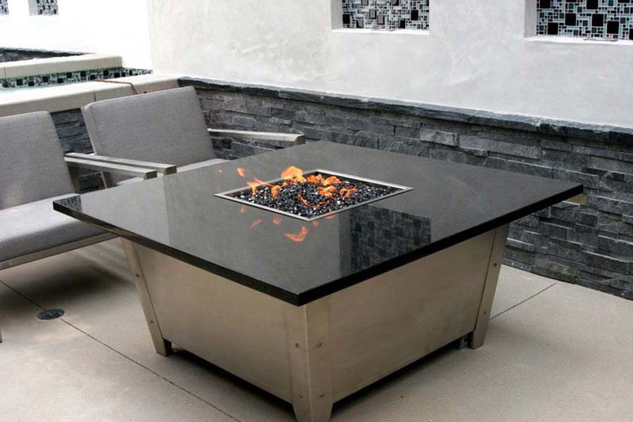 Picture of: Propane Firepit Table Granite
