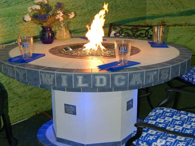 Picture of: Propane Firepit Table Round