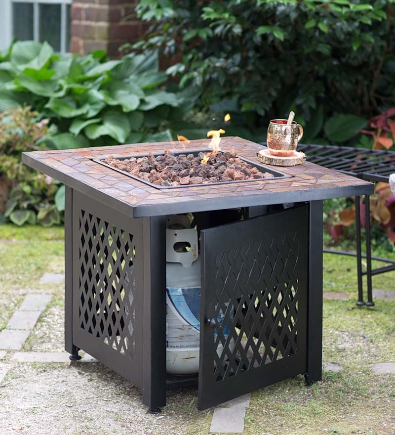 Picture of: Propane Firepit Table Size