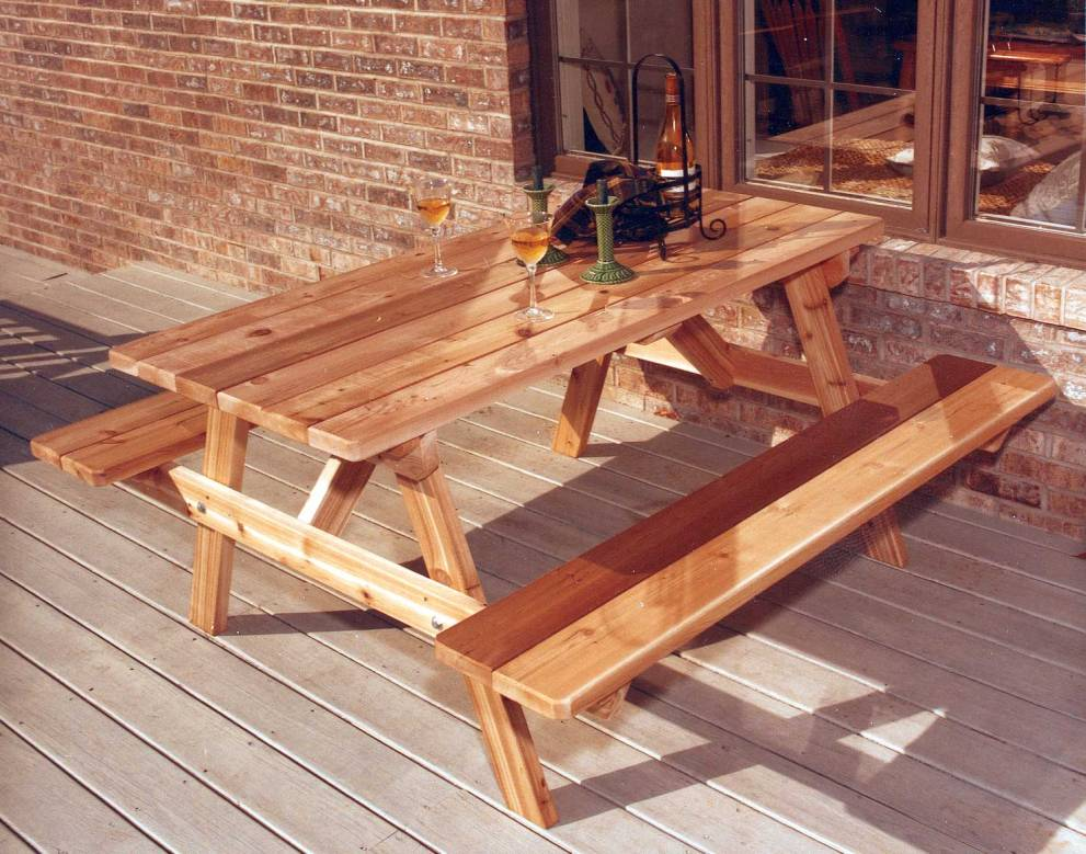 Picture of: Red Cedar Picnic Table