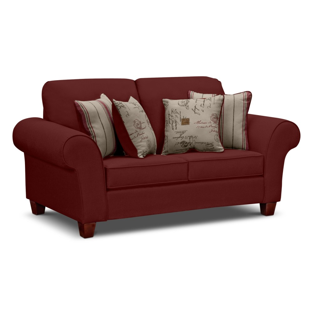 Image of: Red Twin Sofa Sleeper Sets